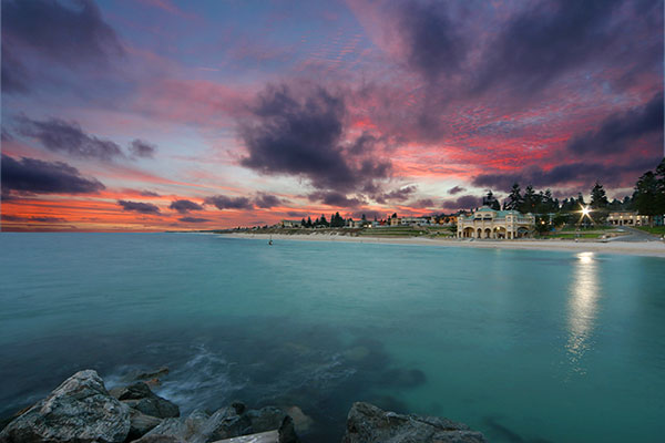 Cottesloe Beach at dusk